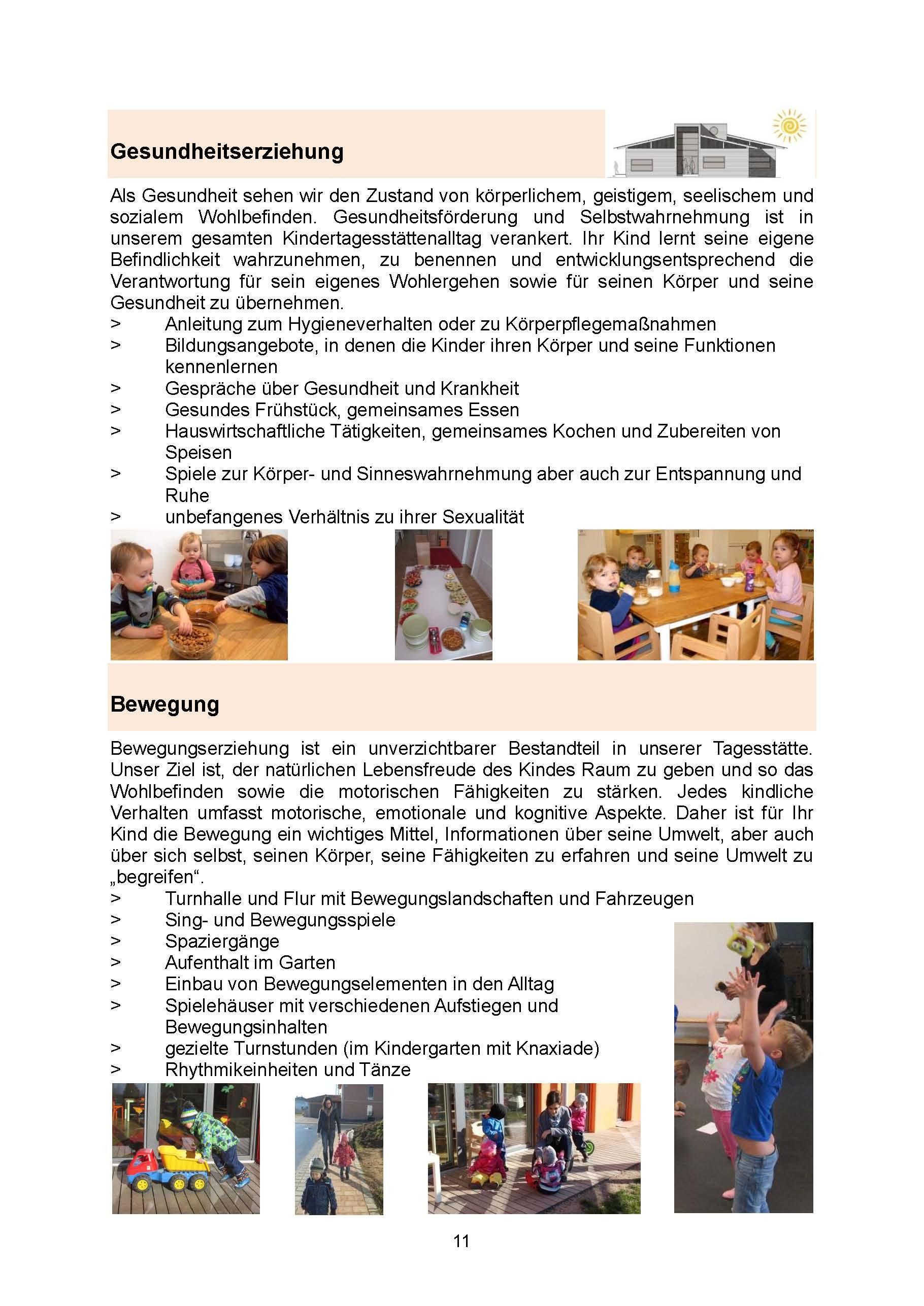 Seite 11 Gesundheit und  Bewegung